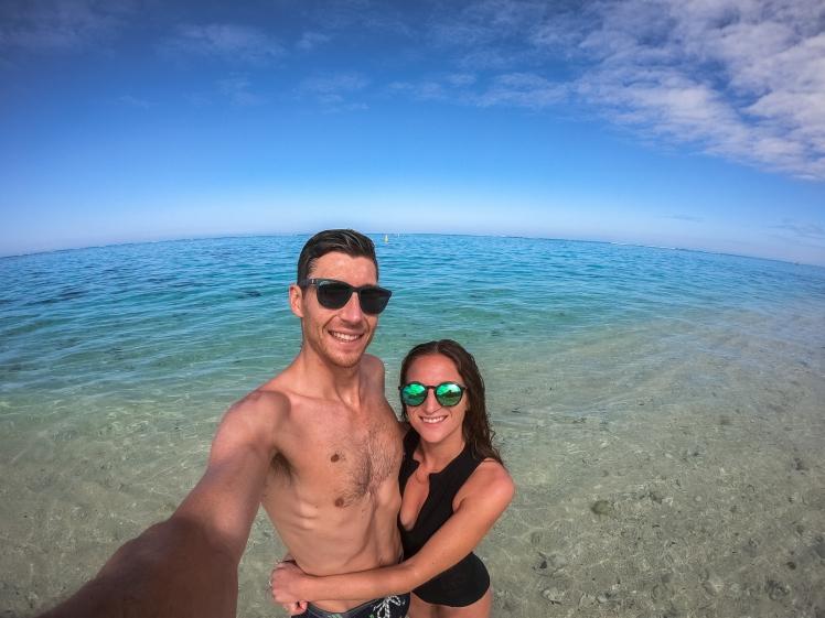Selfie at Le Morne Beach, Mauritius