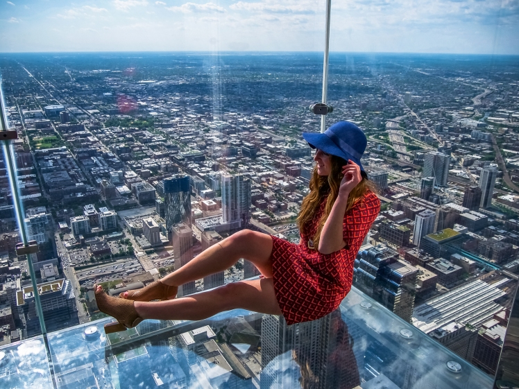 Top of the Willis Tower in Chicago