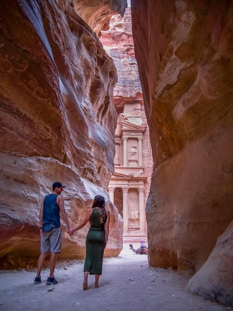 Siq entrance to Petra