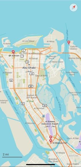 Screenshot of Maps.me map of Abu Dhabi
