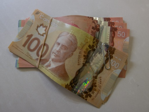 Canadian dollars