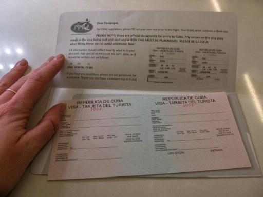 Cuban visa for American citizens