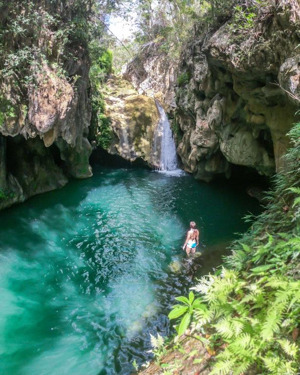 Waterfall in Parque El Cubano in Trinidad, Cuba