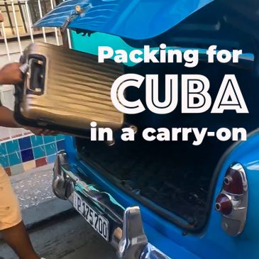 Packing list for Cuba in a carry-on
