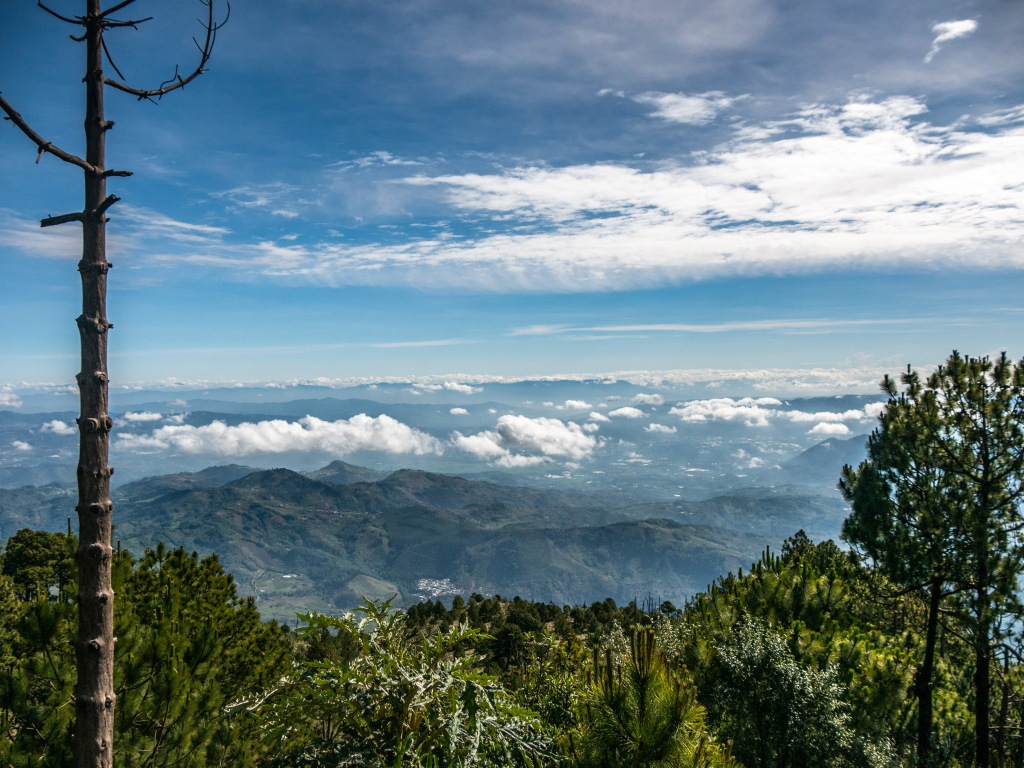 Expansive hiking down Acatenango