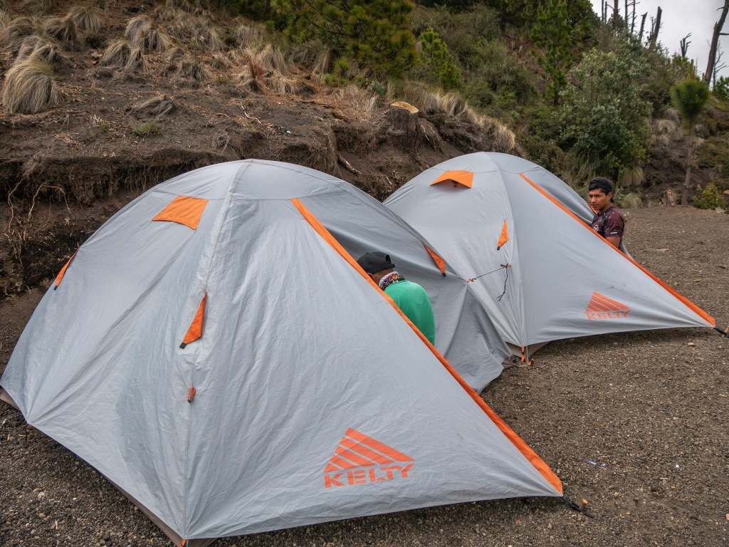 Tents on Acatenango Volcano